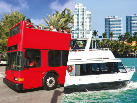 MIAMI DOUBLE DECKER + BOAT